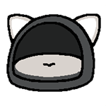 27-02-black-dome-cushion-neko-atsume