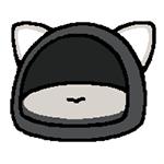 27-02-black-dome-cushion-neko-atsume